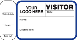 customizable school visitor pass with stub