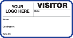 small customizable school visitor pass with destination field