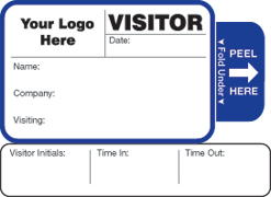 Visitor Pass Solutions Badge Style #813