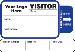 Visitor Badge Style 814