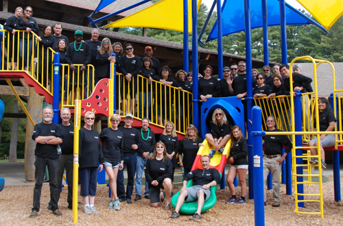 Employees of Data Management, Inc., enjoyed a field day at Camp Courant last October