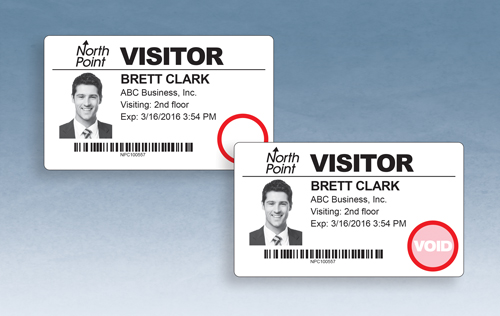 One Day Time-Expiring Visitor Badge, DOT-Expiring Direct Thermal Visitor Badges