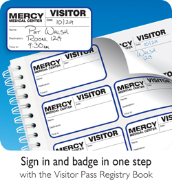 Sign in and badge in one step with the Visitor Pass Registry Book