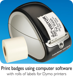 print visitor badges using eVisitorPass Visitor Management Software