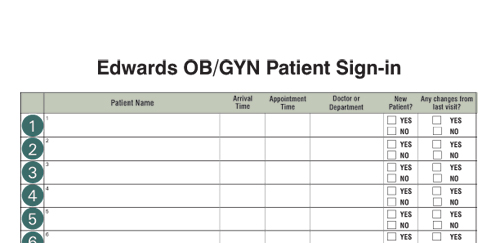 medical office sign in sheet template - medical office supplies