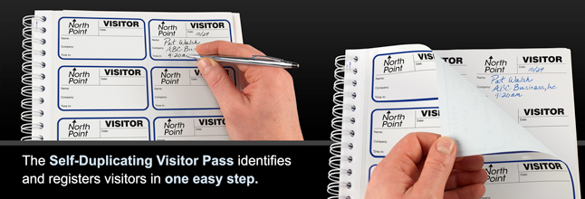 The Visitor Pass Registry Book is the perfect sign-in solution for ...