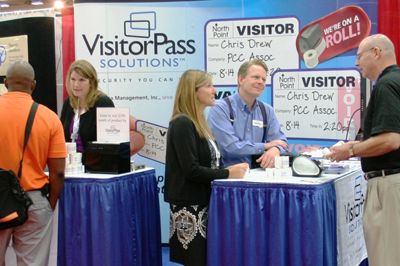 Data Management associates at a trade show