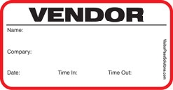 Visitor Pass Solutions Vendor Badge Style #708-VEN