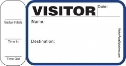 Stock Side Sign-Out Visitor Badges (150 badges)