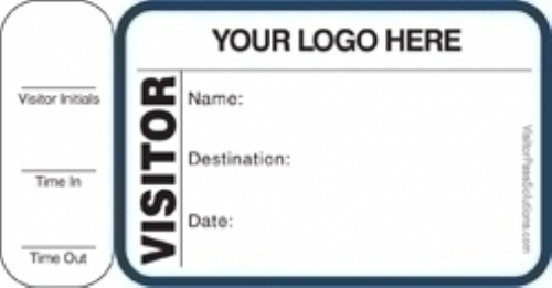 Custom Side Sign-Out Visitor Badges (150 badges)
