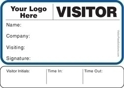 Sign-In Books with Badges - Visitor Agreement Visitor Badges