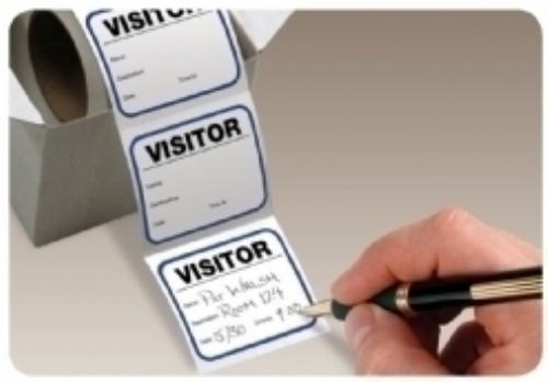Visitor Pass On-A-Roll - economical visitor passes
