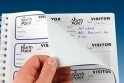 Visitor Pass Registry Book - ID badge and duplicate record at once