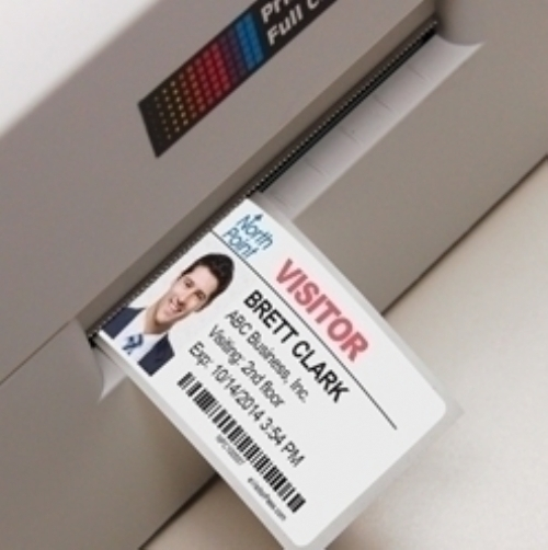Color-Printer Self-Expiring Visitor Pass in Rolls for inkjet and laser printers