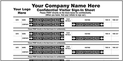 confidential sign in book keep company business private 2 part