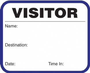 visitor badges template